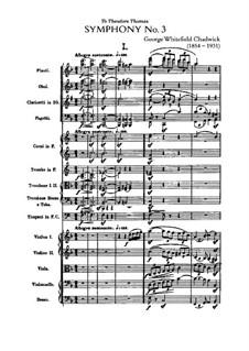Sinfonie Nr.3 in F-Dur: Sinfonie Nr.3 in F-Dur by George Whitefield Chadwick