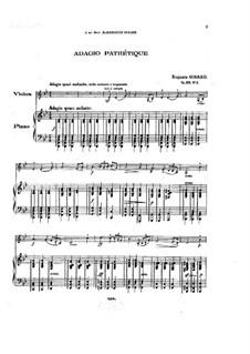 Adagio pathétique for Violin and Piano, Op.128 No.3: Partitur by Benjamin Godard