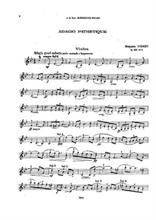 Adagio pathétique for Violin and Piano, Op.128 No.3: Solostimme by Benjamin Godard