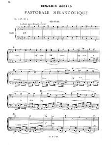 Zwei Stücke für Klavier, Op.137: No.1 Pastorale mélancolique by Benjamin Godard