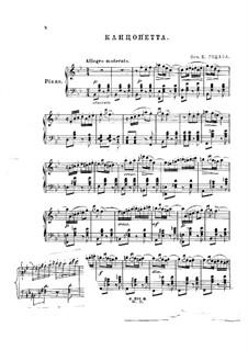 Romantisches Konzert für Violine und Orchester, Op.35: Canzonetta, für Klavier by Benjamin Godard