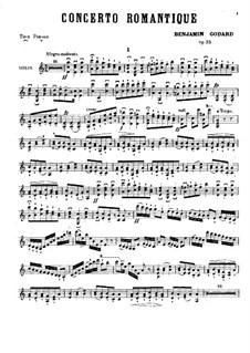 Romantisches Konzert für Violine und Orchester, Op.35: Für Violine und Klavier – Solostimme by Benjamin Godard