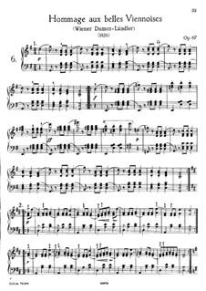 Sechzehn Ländler und zwei Ecossaises, D.734 Op.67: Vollsammlung by Franz Schubert