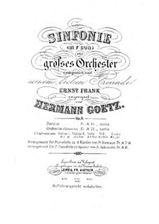 Sinfonie in F-Dur, Op.9: Teil I by Hermann Götz