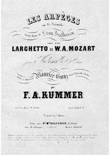 Quintett für Klarinette und Streicher in A-Dur, K.581: Teil II. Bearbeitung für Cello und Klavier by Wolfgang Amadeus Mozart