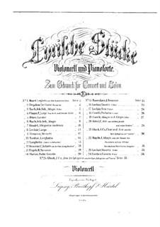 Quintett für Klarinette und Streicher in A-Dur, K.581: Teil II. Bearbeitung für Cello und Klavier – Cellostimme by Wolfgang Amadeus Mozart