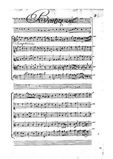 Drei grosse Motetten: No.1 Beatus vir qui timet Dominum by Pascal Collasse