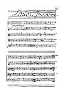 Drei grosse Motetten: No.2 Lauda Jerusalem Dominum by Pascal Collasse
