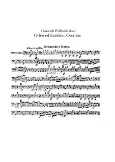 Ouvertüre: Cello- und Kontrabass-Stimme by Christoph Willibald Gluck