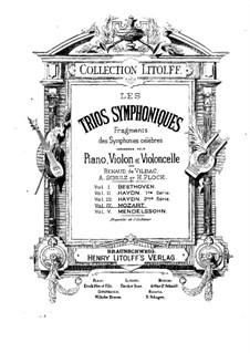Fragmente: Teile I, III, für Violine, Cello und Klavier by Wolfgang Amadeus Mozart