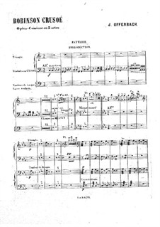 Robinson Crusoé: Schlagzeugstimme by Jacques Offenbach