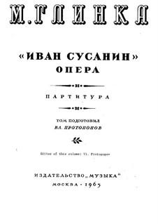 Ouvertüre: Vollpartitur by Michail Glinka