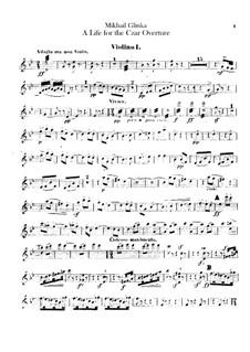 Ouvertüre: Violinstimme I by Michail Glinka