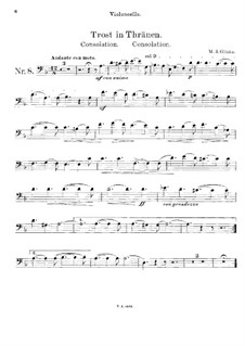 Trost für Cello und Klavier: Solostimme by Michail Glinka