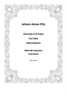 Viola Concerto in D Major: Viola Concerto in D Major by Antonio Filtz