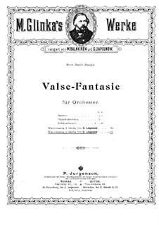 Walzer-Fantasie in h-Moll: Für Klavier, vierhändig by Michail Glinka