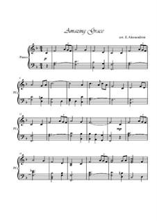Amazing Grace, für Klavier: Für einen Interpreten by folklore