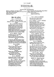 Debora, HWV 51: Klavierauszug mit Singstimmen by Georg Friedrich Händel
