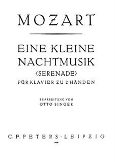 Vollständige Teile: Für Klavier by Wolfgang Amadeus Mozart