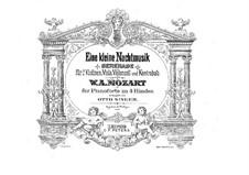 Vollständige Teile: Für Klavier, vierhändig by Wolfgang Amadeus Mozart