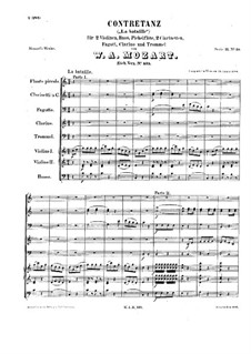 La Bataille, K.535: Vollpartitur by Wolfgang Amadeus Mozart
