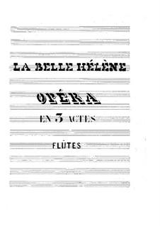 La belle Hélène (Die schöne Helena): Flötenstimme by Jacques Offenbach