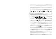 La belle Hélène (Die schöne Helena): Klarinettenstimme by Jacques Offenbach