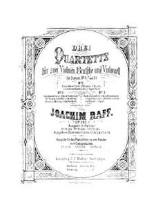 Streichquartett Nr.7 in D-Dur 'Die schöne Müllerin', Op.192 No.2: Stimmen by Joachim Raff