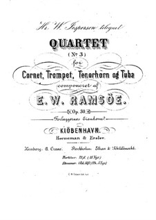 Bläserquartett Nr.3 in Es-Dur, Op.30: Vollpartitur by Emilio Wilhelm Ramsöe