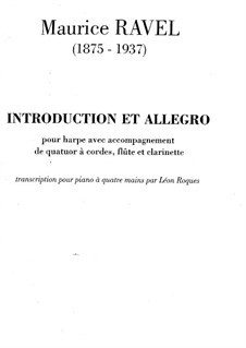Introduktion und Allegro, M.46: Für zwei Klaviere, vierhändig – Stimmen by Maurice Ravel