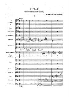 Sinfonie Nr.2 in fis-Moll 'Antar', Op.9: Vollpartitur by Nikolai Rimsky-Korsakov