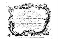 Zwölf progressive Lektionen für Tasteninstrumente, Op.25: Zwölf progressive Lektionen für Tasteninstrumente by Tommaso Giordani