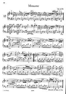 Menuette für Klavier, Op. posth.: Für einen Interpreten by Franz Schubert