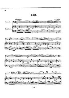 Arie, für Cello und Klavier: Partitur by Jean-Marie Leclair