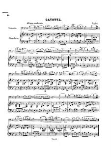 Gavotte für Cello und Klavier in B-Dur: Partitur by Jean-Marie Leclair