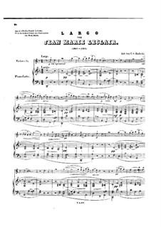 Largo, für Cello und Klavier: Partitur by Jean-Marie Leclair