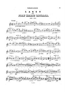 Largo, für Cello und Klavier: Solostimme by Jean-Marie Leclair