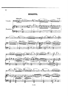 Musette, für Cello und Klavier: Partitur by Jean-Marie Leclair