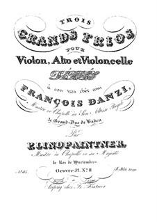 Drei Streichtrios, Op.52: Trio Nr.2 in g-Moll by Peter Josef von Lindpainter