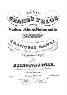 Drei Streichtrios, Op.52: Trio Nr.3 in F-Dur by Peter Josef von Lindpainter