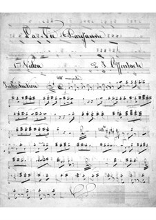 La vie parisienne (Pariser Leben): Violinstimme I by Jacques Offenbach