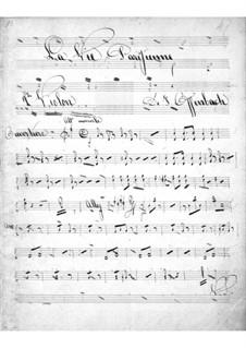 La vie parisienne (Pariser Leben): Violinstimme II by Jacques Offenbach