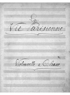 La vie parisienne (Pariser Leben): Cellos- und Kontrabassstimme by Jacques Offenbach