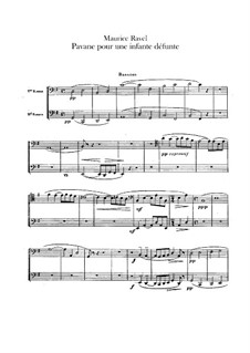 Pavane auf den Tod einer Infantin, M.19: Für Orchester – Fagottstimme by Maurice Ravel