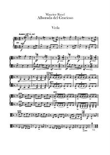 Spiegel für Orchester, M.43a: Teil IV Morgenlied des Narren – Bratschenstimme by Maurice Ravel