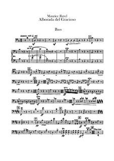 Spiegel für Orchester, M.43a: Teil IV Morgenlied des Narren – Kontrabassstimme by Maurice Ravel