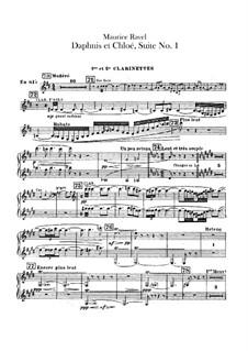 Daphnis und Chloe. Suite Nr.1, M.57a: Klarinettenstimmen by Maurice Ravel