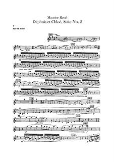 Daphnis und Chloe. Suite Nr.2, M.57b: Altflötenstimme by Maurice Ravel