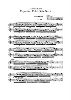 Daphnis und Chloe. Suite Nr.2, M.57b: Klarinettenstimmen by Maurice Ravel