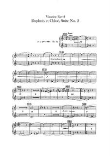 Daphnis und Chloe. Suite Nr.2, M.57b: Hörnerstimmen by Maurice Ravel